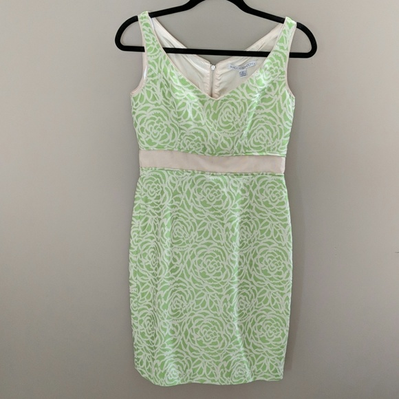 a9651d6263 Lime green cream rose dress
